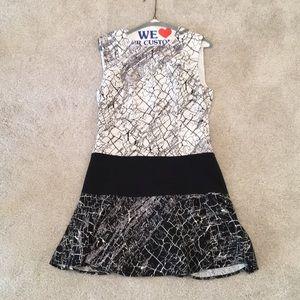 BCBGMAXAZRIA dress White/Black Size 8